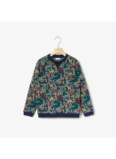 Lacoste Unisex Çocuk Baskılı Sweatshirt SJ8144.2XA Beyaz